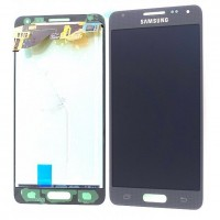 Ansamblu Display LCD + Touchscreen Samsung Galaxy Alpha G850F Black Negru ORIGINAL. Ecran + Digitizer Samsung Galaxy Alpha G850F Negru Black ORIGINAL