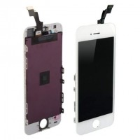 Ansamblu Display LCD + Touchscreen Apple iPhone 5S Alb White. Ecran + Digitizer Apple iPhone 5S Alb White