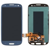 Ansamblu Display LCD + Touchscreen Samsung Galaxy S3 I9300 Blue Albastru ORIGINAL. Ecran + Digitizer Samsung Galaxy S3 I9300 Blue Albastru ORIGINAL