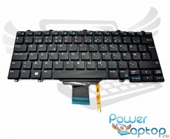 Tastatura Dell Latitude E5270 iluminata. Keyboard Dell Latitude E5270. Tastaturi laptop Dell Latitude E5270. Tastatura notebook Dell Latitude E5270