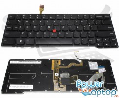 Tastatura Lenovo Thinkpad X1 Carbon Gen 2 2014 iluminata. Keyboard Lenovo Thinkpad X1 Carbon Gen 2 2014. Tastaturi laptop Lenovo Thinkpad X1 Carbon Gen 2 2014. Tastatura notebook Lenovo Thinkpad X1 Carbon Gen 2 2014