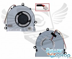 Cooler laptop Dell Inspiron 5737. Ventilator procesor Dell Inspiron 5737. Sistem racire laptop Dell Inspiron 5737