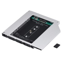HDD Caddy laptop 9.5mm intern M2 NGFF SSD extern SATA