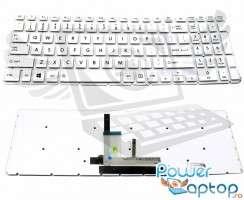 Tastatura Toshiba Satellite L50-C Alba iluminata. Keyboard Toshiba Satellite L50-C. Tastaturi laptop Toshiba Satellite L50-C. Tastatura notebook Toshiba Satellite L50-C