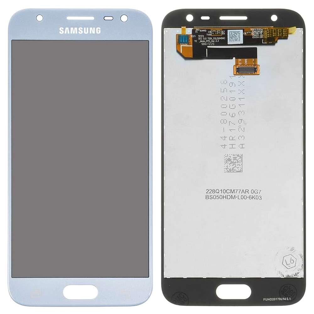 Display Samsung Galaxy J3 Pro 2017 Display TFT AAA Blue Albastru imagine