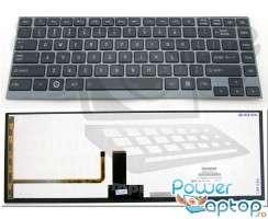 Tastatura Toshiba PSU4SR iluminata backlit. Keyboard Toshiba PSU4SR iluminata backlit. Tastaturi laptop Toshiba PSU4SR iluminata backlit. Tastatura notebook Toshiba PSU4SR iluminata backlit