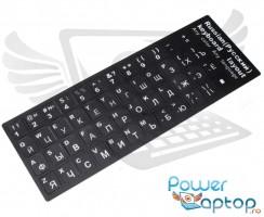 Sticker tastatura laptop layout Rusesc RU negru. Sticker taste laptop layout Rusesc RU negru