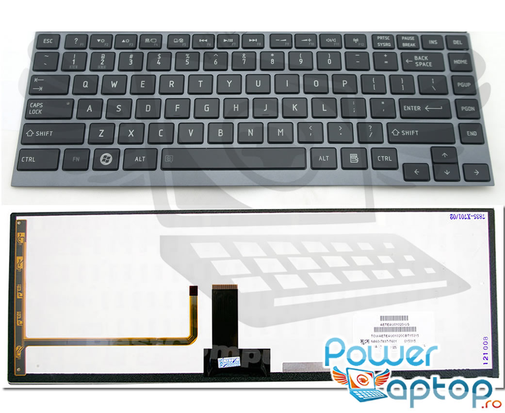 Tastatura Toshiba PSUL1V iluminata backlit imagine powerlaptop.ro 2021
