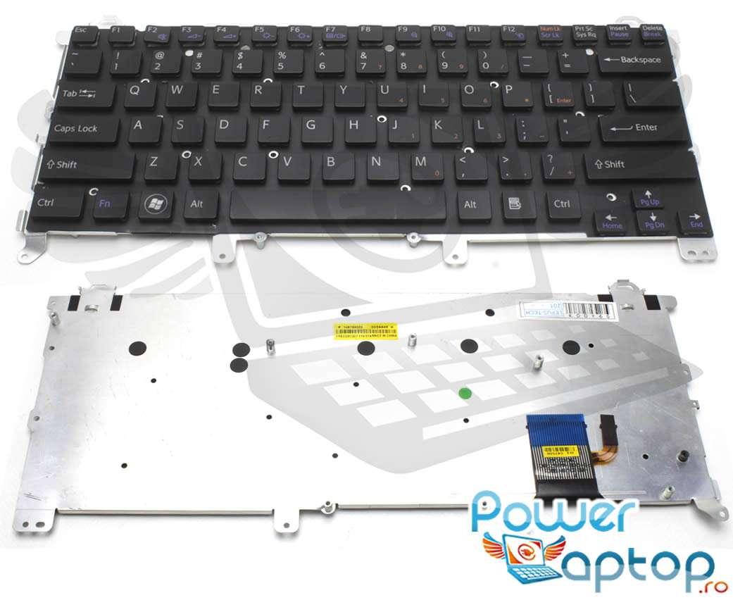 Tastatura Sony Vaio VPCZ13M9E B iluminata layout US fara rama enter mic imagine