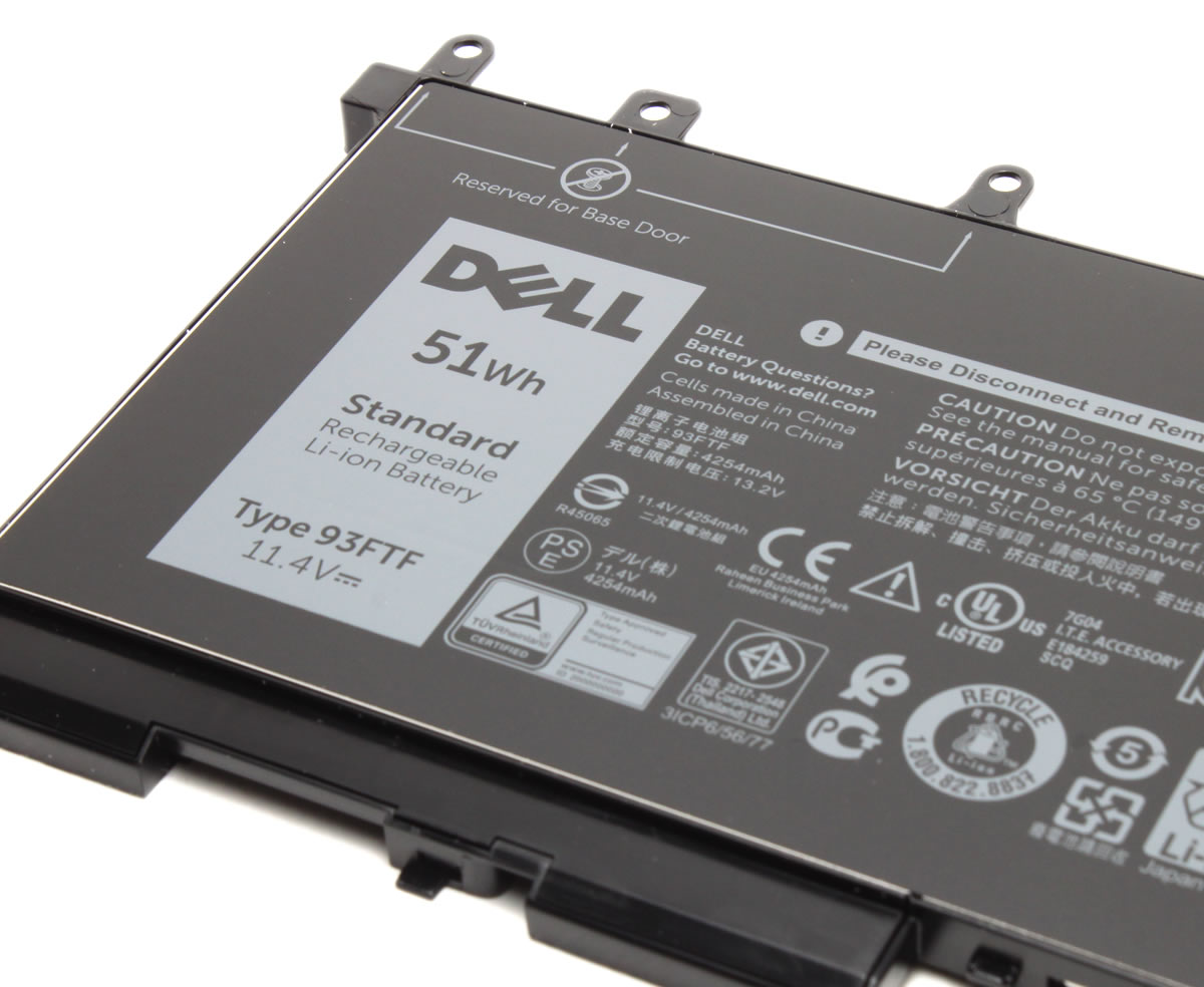 Baterie Dell Latitude 5495 Originala 51Wh imagine powerlaptop.ro 2021