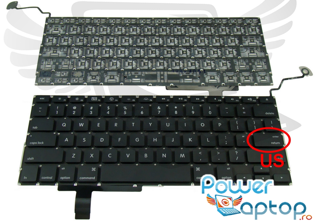 Tastatura Apple MacBook Pro A1297 layout US fara rama enter mic imagine