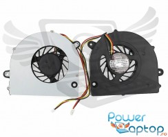 Cooler laptop Toshiba Satellite C670D. Ventilator procesor Toshiba Satellite C670D. Sistem racire laptop Toshiba Satellite C670D