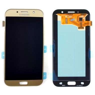 Ansamblu Display LCD + Touchscreen Samsung Galaxy A7 2017 A720 Gold Auriu . Ecran + Digitizer Samsung Galaxy A7 2017 A720 Gold Auriu