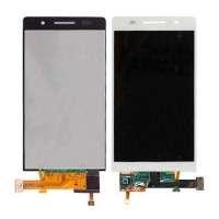 Ansamblu Display LCD + Touchscreen Huawei Ascend P6 fara rama Alb ORIGINAL. Ecran + Digitizer Huawei Ascend P6 fara rama Alb ORIGINAL