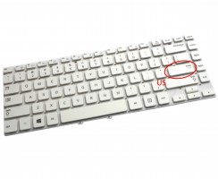Tastatura Samsung  NP350V4X alba. Keyboard Samsung  NP350V4X. Tastaturi laptop Samsung  NP350V4X. Tastatura notebook Samsung  NP350V4X