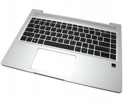 Tastatura HP L44589-B31 Neagra cu Palmrest Argintiu. Keyboard HP L44589-B31 Neagra cu Palmrest Argintiu. Tastaturi laptop HP L44589-B31 Neagra cu Palmrest Argintiu. Tastatura notebook HP L44589-B31 Neagra cu Palmrest Argintiu