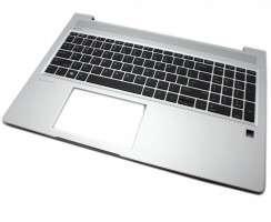 Tastatura HP ProBook 450 G7 Neagra cu Palmrest Argintiu. Keyboard HP ProBook 450 G7 Neagra cu Palmrest Argintiu. Tastaturi laptop HP ProBook 450 G7 Neagra cu Palmrest Argintiu. Tastatura notebook HP ProBook 450 G7 Neagra cu Palmrest Argintiu