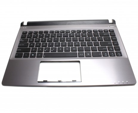 Tastatura Asus U32 neagra cu Palmrest gri. Keyboard Asus U32 neagra cu Palmrest gri. Tastaturi laptop Asus U32 neagra cu Palmrest gri. Tastatura notebook Asus U32 neagra cu Palmrest gri