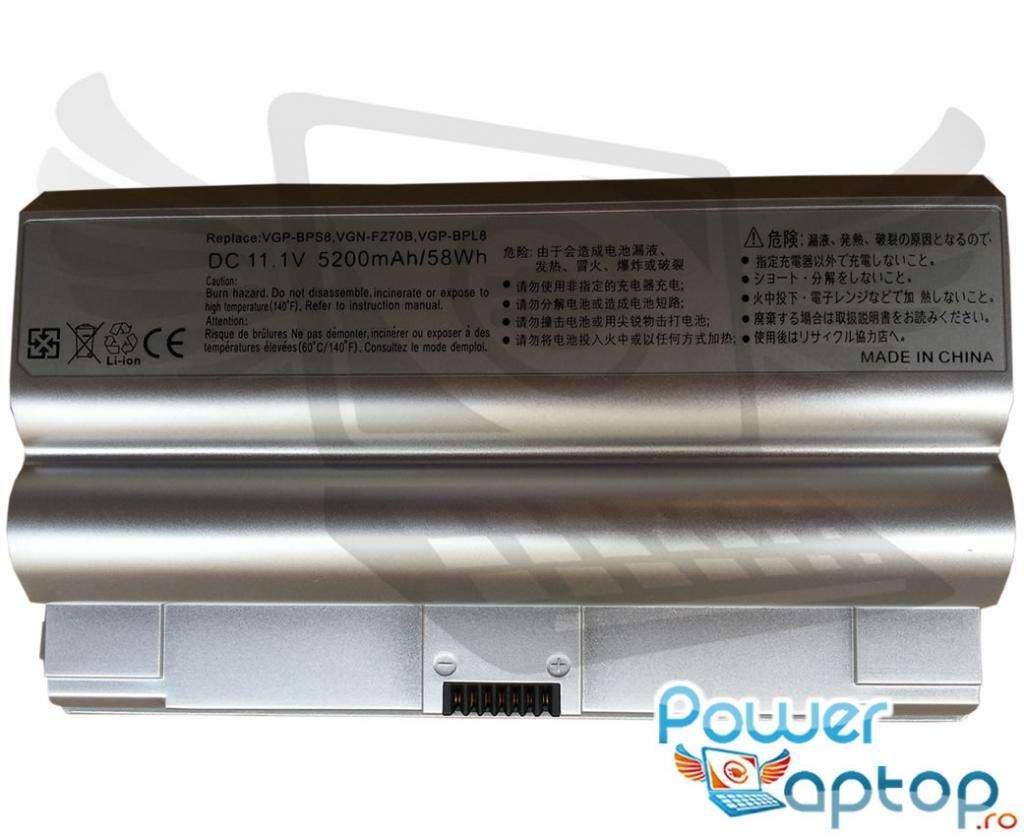 Baterie Sony Vaio VGN FZ190N4 imagine powerlaptop.ro 2021