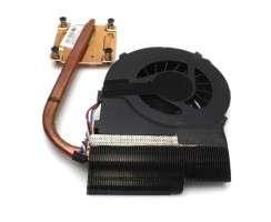 Cooler laptop HP Pavilion G6-1D cu heatpipe. Ventilator procesor HP Pavilion G6-1D. Sistem racire laptop HP Pavilion G6-1D