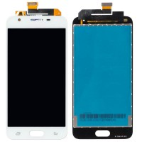 Ansamblu Display LCD + Touchscreen Samsung Galaxy On5 2016 G5510 White Alb . Ecran + Digitizer Samsung Galaxy On5 2016 G5510 White Alb