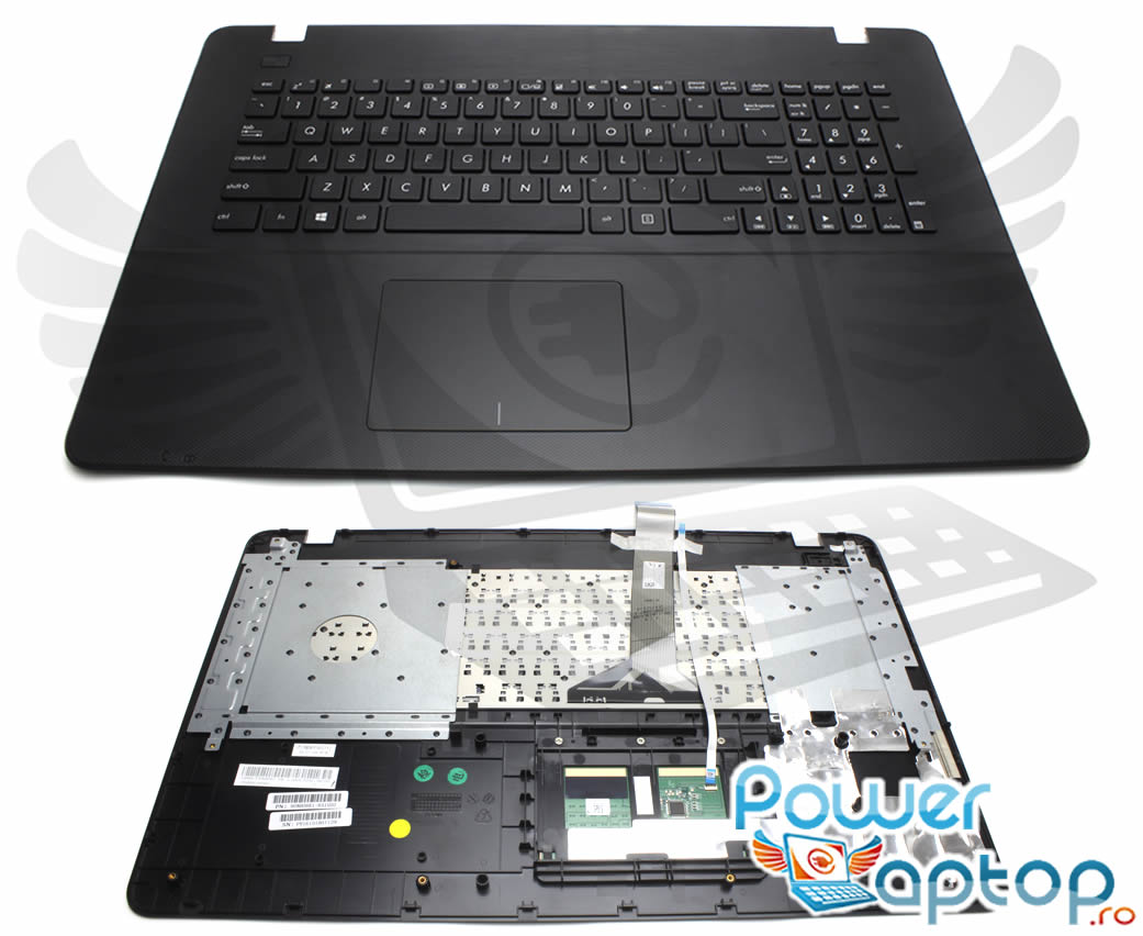 Tastatura Asus X751LB neagra cu Palmrest negru imagine
