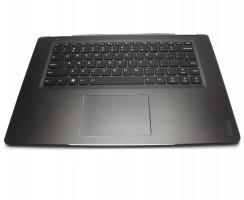 Tastatura Lenovo Yoga 710-15IKB neagra cu Palmrest negru iluminata backlit. Keyboard Lenovo Yoga 710-15IKB neagra cu Palmrest negru. Tastaturi laptop Lenovo Yoga 710-15IKB neagra cu Palmrest negru. Tastatura notebook Lenovo Yoga 710-15IKB neagra cu Palmrest negru