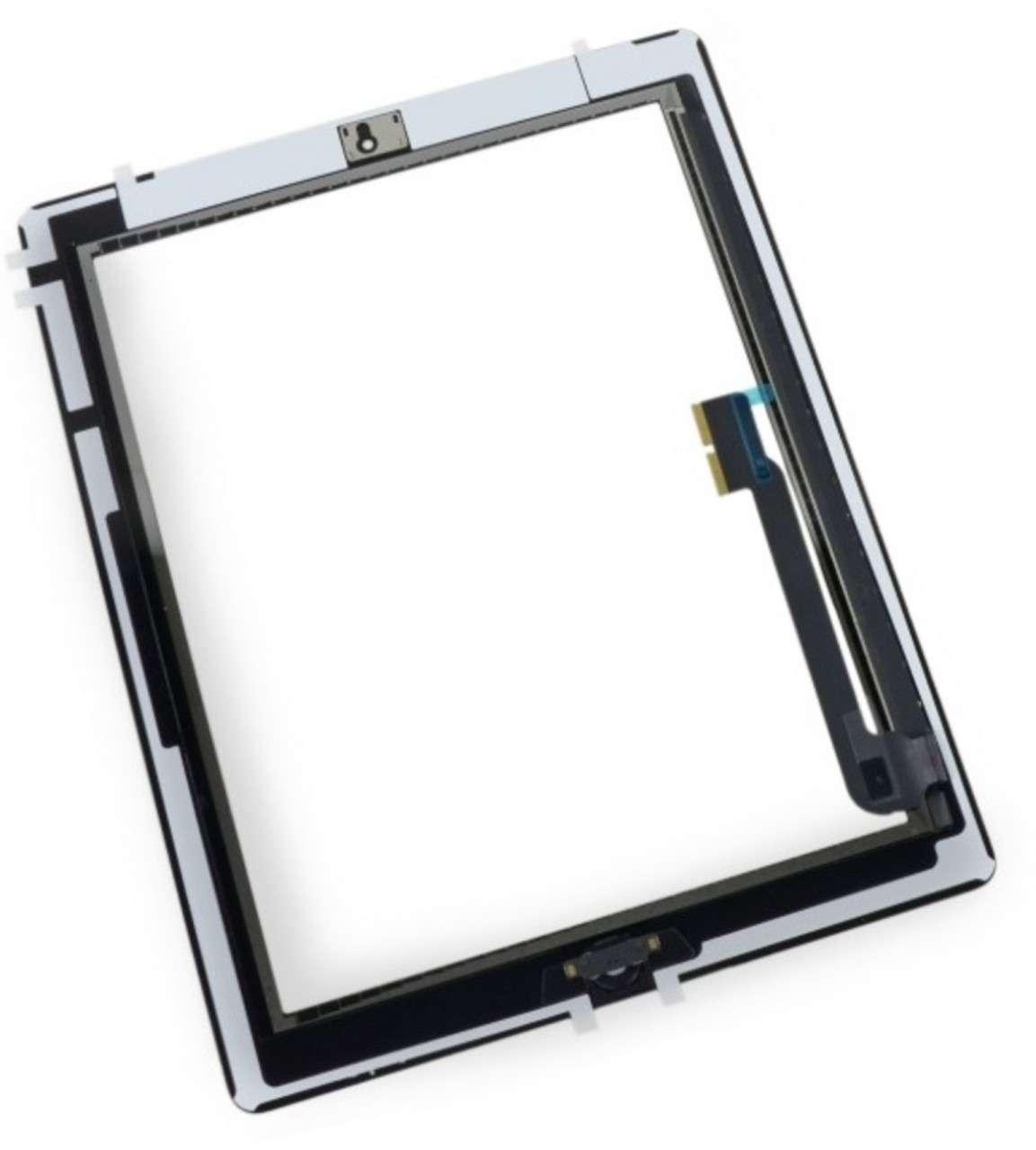 Touchscreen Digitizer Apple iPad 3 A1430 A1416 cu buton home si adeziv Alb Geam Sticla Tableta imagine
