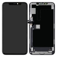 Ansamblu Display LCD + Touchscreen Apple iPhone 11 Pro Max OLED Negru Black. Ecran + Digitizer Apple iPhone 11 Pro Max OLED Negru Black