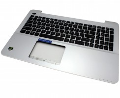 Tastatura Asus  0KN0-R91US23 Neagra cu Palmrest argintiu. Keyboard Asus  0KN0-R91US23 Neagra cu Palmrest argintiu. Tastaturi laptop Asus  0KN0-R91US23 Neagra cu Palmrest argintiu. Tastatura notebook Asus  0KN0-R91US23 Neagra cu Palmrest argintiu