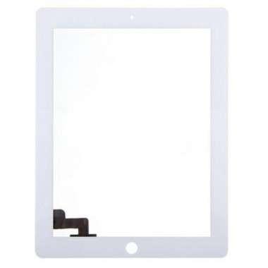 Digitizer Touchscreen Apple iPad 2 A1395 A1396 cu adeziv Alb. Geam Sticla Tableta Apple iPad 2 A1395 A1396 cu adeziv Alb