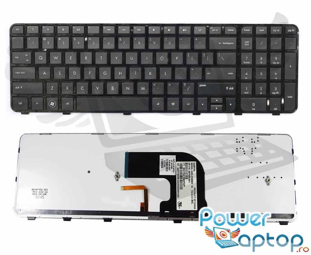 Tastatura HP Pavilion dv6 7030 iluminata backlit imagine powerlaptop.ro 2021