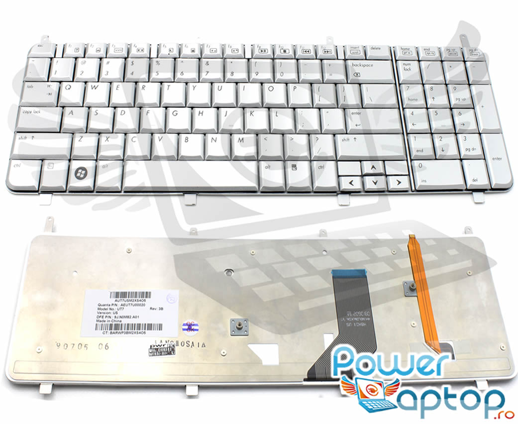 Tastatura HP Pavilion DV8 1003TX Argintie iluminata backlit imagine powerlaptop.ro 2021