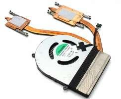 Cooler laptop Lenovo ThinkPad E560 cu heatpipe. Ventilator procesor Lenovo ThinkPad E560. Sistem racire laptop Lenovo ThinkPad E560