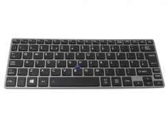 Tastatura Toshiba Portege Z30-A-186 Rama gri iluminata backlit. Keyboard Toshiba Portege Z30-A-186 Rama gri. Tastaturi laptop Toshiba Portege Z30-A-186 Rama gri. Tastatura notebook Toshiba Portege Z30-A-186 Rama gri