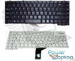 Tastatura Fujitsu Siemens  K7610W neagra. Keyboard Fujitsu Siemens  K7610W neagra. Tastaturi laptop Fujitsu Siemens  K7610W neagra. Tastatura notebook Fujitsu Siemens  K7610W neagra