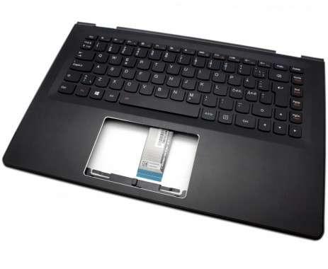 Tastatura Lenovo 5CB0H35644 Neagra cu Palmrest negru iluminata backlit. Keyboard Lenovo 5CB0H35644 Neagra cu Palmrest negru. Tastaturi laptop Lenovo 5CB0H35644 Neagra cu Palmrest negru. Tastatura notebook Lenovo 5CB0H35644 Neagra cu Palmrest negru