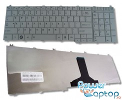 Tastatura Toshiba Satellite C660 argintie. Keyboard Toshiba Satellite C660 argintie. Tastaturi laptop Toshiba Satellite C660 argintie. Tastatura notebook Toshiba Satellite C660 argintie
