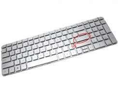 Tastatura HP  665937 051 Argintie. Keyboard HP  665937 051. Tastaturi laptop HP  665937 051. Tastatura notebook HP  665937 051