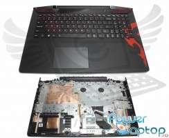 Tastatura Lenovo  5CB0M38019 neagra cu Palmrest negru iluminata backlit. Keyboard Lenovo  5CB0M38019 neagra cu Palmrest negru. Tastaturi laptop Lenovo  5CB0M38019 neagra cu Palmrest negru. Tastatura notebook Lenovo  5CB0M38019 neagra cu Palmrest negru