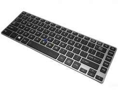 Tastatura Toshiba Tecra Z40 Neagra iluminata backlit. Keyboard Toshiba Tecra Z40 Neagra. Tastaturi laptop Toshiba Tecra Z40 Neagra. Tastatura notebook Toshiba Tecra Z40 Neagra