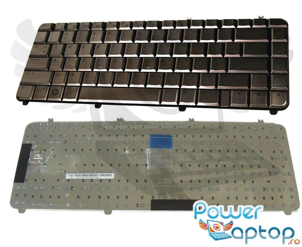 Tastatura HP 488590-001 cafenie imagine powerlaptop.ro 2021