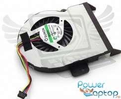 Cooler laptop Asus  F55VD  10 mm grosime. Ventilator procesor Asus  F55VD. Sistem racire laptop Asus  F55VD