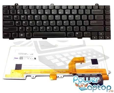 Tastatura Dell Alienware M14x R1 iluminata backlit. Keyboard Dell Alienware M14x R1 iluminata backlit. Tastaturi laptop Dell Alienware M14x R1 iluminata backlit. Tastatura notebook Dell Alienware M14x R1 iluminata backlit