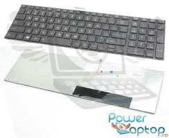 Tastatura Toshiba Satellite C855 Neagra. Keyboard Toshiba Satellite C855 Neagra. Tastaturi laptop Toshiba Satellite C855 Neagra. Tastatura notebook Toshiba Satellite C855 Neagra