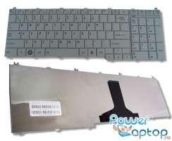 Tastatura Toshiba Satellite C675d argintie. Keyboard Toshiba Satellite C675d argintie. Tastaturi laptop Toshiba Satellite C675d argintie. Tastatura notebook Toshiba Satellite C675d argintie