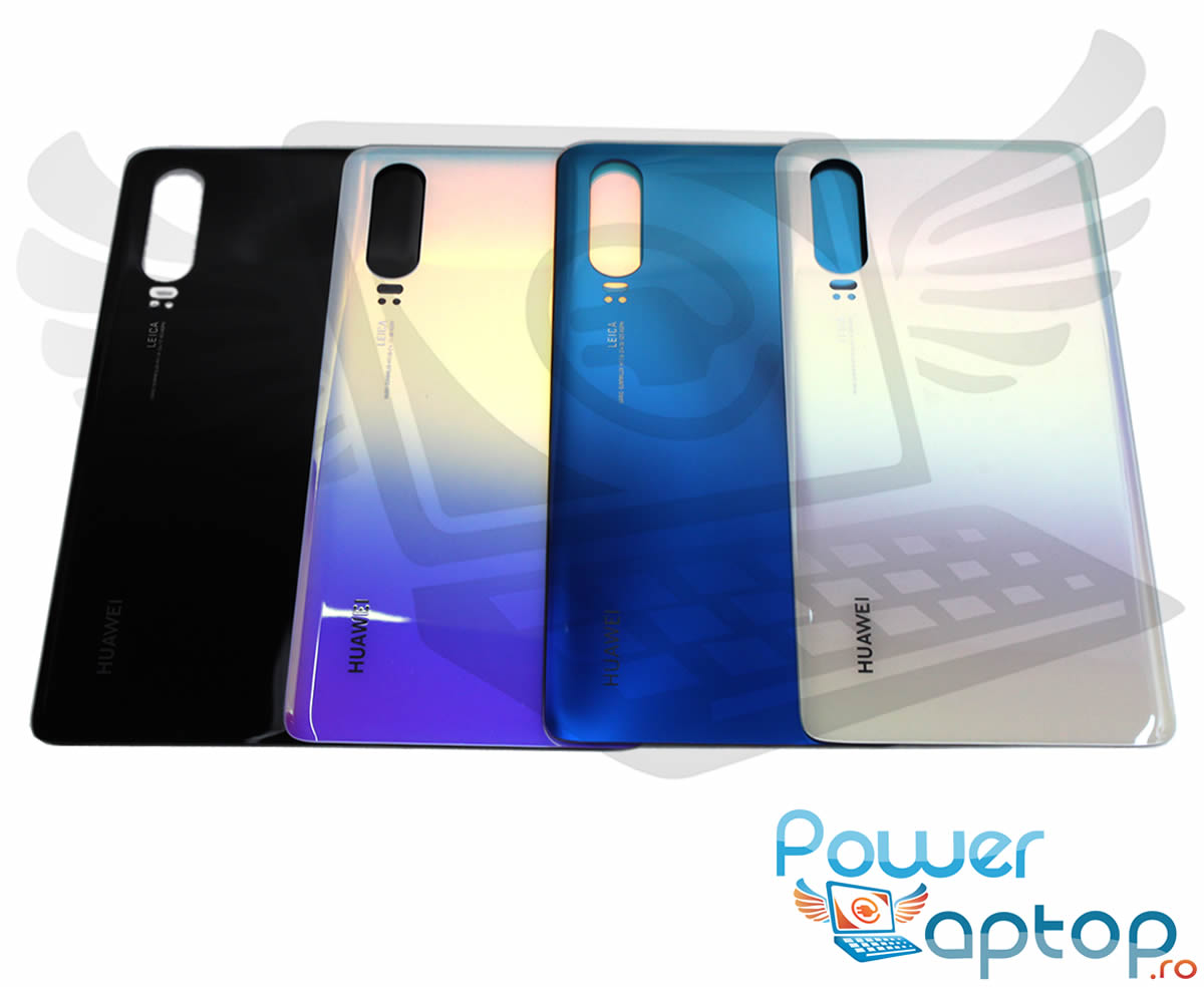 Capac Baterie Huawei P30 Negru Black Capac Spate imagine powerlaptop.ro 2021