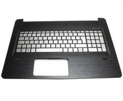 Tastatura HP Envy 17-N argintie cu Palmrest negru iluminata backlit. Keyboard HP Envy 17-N argintie cu Palmrest negru. Tastaturi laptop HP Envy 17-N argintie cu Palmrest negru. Tastatura notebook HP Envy 17-N argintie cu Palmrest negru