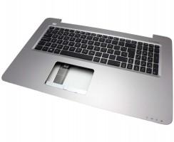 Tastatura Asus 39XK9TCJN60 neagra cu Palmrest argintiu. Keyboard Asus 39XK9TCJN60 neagra cu Palmrest argintiu. Tastaturi laptop Asus 39XK9TCJN60 neagra cu Palmrest argintiu. Tastatura notebook Asus 39XK9TCJN60 neagra cu Palmrest argintiu
