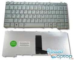 Tastatura Toshiba Satellite M500 argintie. Keyboard Toshiba Satellite M500 argintie. Tastaturi laptop Toshiba Satellite M500 argintie. Tastatura notebook Toshiba Satellite M500 argintie